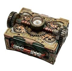 Steampunk Box with Compass