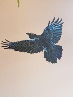 #mural#hugin#munin#raven#norse#mythology