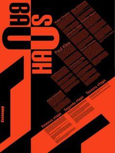 bauhaus typography cartel infografico by hellosquirro, via Flickr