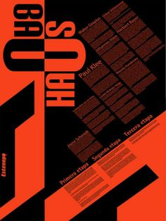 bauhaus typography cartel infografico by hellosquirro, via Flickr