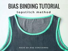 Bias Binding Tutorial (topstitch method)