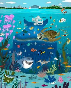#disney #pixar #buscandoanemo #dory Andrew Stanton, Finding Nemo, Deep Sea, Leaves, Make It Yourself, Canning, Wallpaper, Movie Posters, Blue