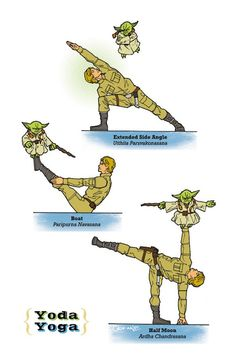 Star Wars yoga poses poster
