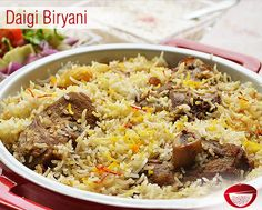 Daigi Biryani is a scrumptious combination of rice and meat with variety of spices. Visit: http://www.bestdesifood.com/recipe-106-Daigi%20Biryani