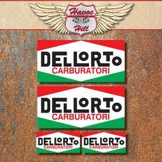 Dellorto+Carburatori+Laminated+Sticker+Set++Motorbike+Scooter+Ducati+Vespa+Decal