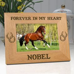 Personalized Horse Picture Frame  Forever In by etchedinmyheart1