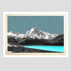Mt Cook Art Print by Marika Jones - All Art Prints endemicworld. everything art, all the time. Nz Art, Home Art, Digital Art, 30th, Art Prints, Lisa, Cooking, Frame, Inspiration