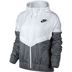 Nike Women Windrunner White, Cool Grey, Black 726138-100 Size S * You can get more details by clicking on the image.