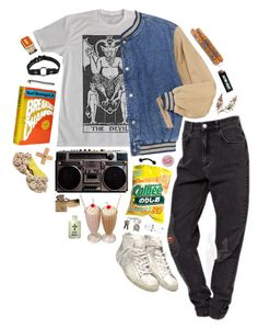 """the devil took me on a date after school"" by suicide-underground ❤ liked on Polyvore featuring Golden Goose"