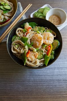 Chilled Soba Noodles with Lemon-Ginger Dressing | http://saltandwind.com  | @saltandwind