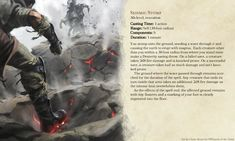 Seismic Stomp, a low-level spell for when combat starts off on the wrong foot Dungeons And Dragons Rules, Dungeons And Dragons Homebrew, Dnd Characters, Fantasy Characters, Warlock Spells, Dnd Wizard, Dnd Classes, Dungeon Master's Guide, Dnd Races