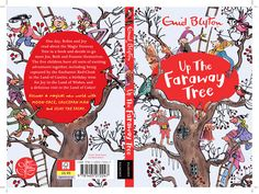 Mark Beech created this front cover for the classic Enid Blyton's book Up The Faraway Tree. #enidblyton #thefarawaytree To see more of Mark's work please visit www.nbillustration.co.uk