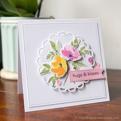 The WPlus9 Watercolour Anemones set is another set that I love but haven't used much yet. It's a really beautiful building stamp set.  How I made this card: The stamp set comes with a l...