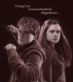 Harry Potter and Jennie Weasley Weasley Harry Potter, Harry Potter Spells, Harry Potter Ships, Harry Potter Quotes, Harry Potter Love, Harry Potter Characters, Hermione Granger, Ginny Weasly, Harry And Ginny