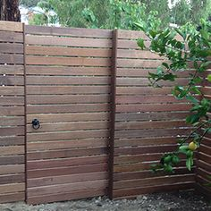 horizontal pine slat gates and returns - Google Search