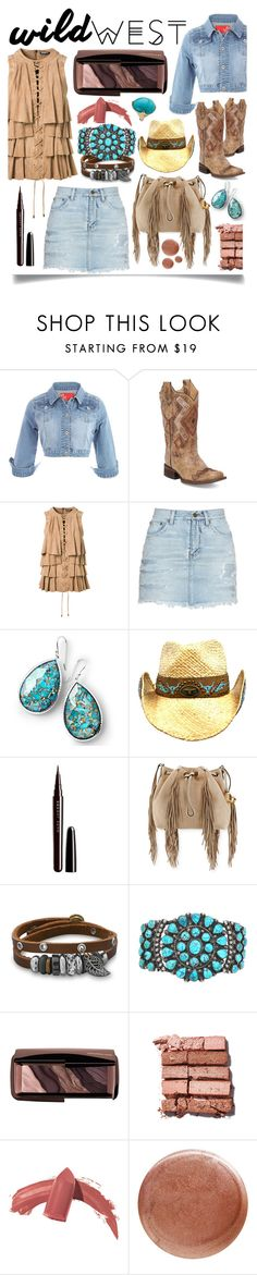 """Wild West Style"" by ittie-kittie on Polyvore featuring Corral, Balmain, Yves Saint Laurent, Ippolita, Marc Jacobs, Diane Von Furstenberg, BillyTheTree, Hourglass Cosmetics, Bobbi Brown Cosmetics and Elizabeth Arden"