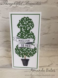 The Craft Spa - Stampin' Up! UK independent demonstrator : Thoughtful Branches Topiary - and Spoiler Alert!