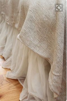 So ethereal looking...perfect for a peaceful night's sleep. Love the contrast of textures.