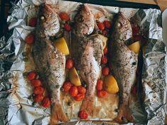 Fish & Seafood — Vanilla Scented Kisses Clam Pasta, Prawn Pasta, Tagliatelle Pasta, Spicy Prawns, Grilled Prawns, Trout Recipes, Seafood Recipes, Garlic White Wine Sauce, Tuna Fish Cakes