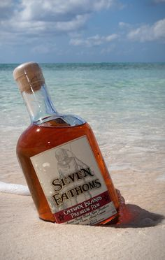 Seven Fathoms Premium Rum from the Cayman Islands - small batch hand crafted rum, aged underwater at seven fathoms (42 feet) in the Caribbean sea.