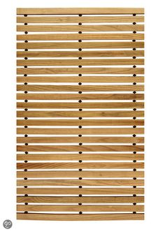 Kleine Wolke - Houten badmat Woody naturel 50x 80 cm
