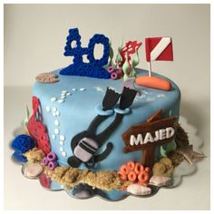 Scuba diving birthday cake !