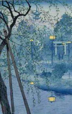 Ukiyo-e Shiro Kasamatsu woodcut : Shiro Kasamatsu was born in Tokyo in At the age of 13 he entered the painting school of Kaburagi Kiyokata - a master in traditional Japanese painting and printmaking. Art And Illustration, Illustration Pictures, Art Occidental, Japanese Woodcut, Art Chinois, Drawn Art, Art Asiatique, Art Japonais, Japanese Painting