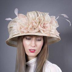 Ladies Navy Blue Wool Fedora Trilby Stylish Hat in Gift Box Powder Design Katie