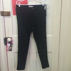 NWT Hollister black jeans Kinda soft material, would fit a size 10 women's, new with tags Hollister Jeans Skinny