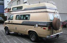 CHEVROLET Van G20 Alkoven Horizon 170 Camper 4,3 V6 Aut. 1985, Heckleiter