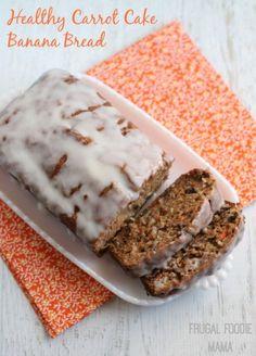 Frugal Foodie Mama: Healthy Carrot Cake Banana Bread