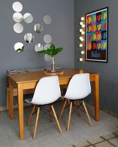 Small Dining Room: 25 Most Inspiring Ideas for Tiny Modern Home Dining Room Design, Dining Room Furniture, Dining Rooms, Home Decor Kitchen, Diy Home Decor, Living Room Decor, Bedroom Decor, Small Dining, Home Decor Styles
