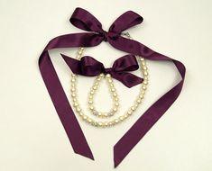 Flower girl jewelry set/Plum flower girl pearl jewelry necklace and brecelet/Flower girl gift/Wedding jewelry/Kids jewelry/Communion jewelry