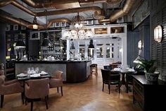 nosh-and-chow-stockholm- I would love to have a warehouse loft styled like this!!