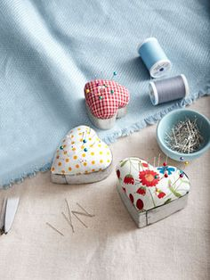 This nifty project pairs up fabric scraps and heart-shaped cookie cutters ($7.68 for six; amazon.com).