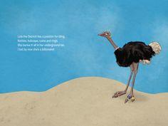 Celeste du Preez Illustration   Portfolio of illustrator Celeste du preez The Ostrich, Illustrator, Movie Posters, Art, Art Background, Film Poster, Kunst, Performing Arts, Illustrators