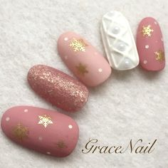 130 adorable christmas nails for the loveliest girls in the world - page 28 > Homemytri. Cute Christmas Nails, Xmas Nails, Get Nails, Holiday Nails, Pink Nails, Holiday Nail Designs, Nail Art Designs, Snow Nails, Sweater Nails