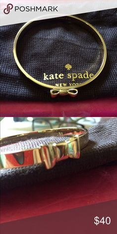 Kate Spade Bangle bracelet  Near new condition bought this bracelet and thought it would fit  me . kate spade Jewelry Bracelets