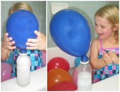 Balloon Blow To Pop | Bath Activities for Kids: Balloon Experiments for Kids