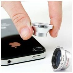 Pretty cool if you use your Smart phone as your camera! 3-Piece Set: Macro, Wide-Angle & Fisheye Clip-on Smartphone Lenses - Assorted Colors