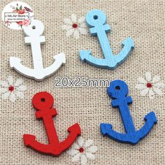 50 stks Mini Navy Boot anker Spear Hanger Houten Decoratieve Knoppen Scrapbooking Home Decorations DIY doek naaien(China (Mainland))