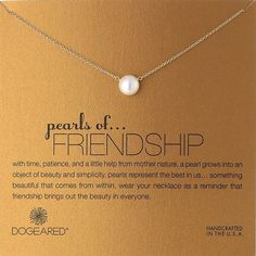Beautiful Pearls of Friendship Pearl Necklace- Christmas holiday gift ideas for best friends.
