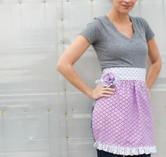 True Love ~ Sweet Ruffle Apron « by Christen from Love Elaine for the Sew,Mama,Sew! Blog