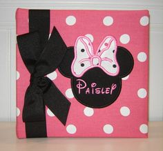 Minnie Mouse Appliqued Photo Album by doodlebugsga on Etsy, $30.00