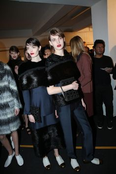Backstage at Marni RTW Fall 2013