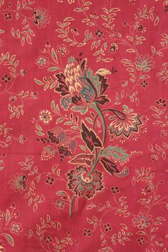 French Antique Turkey Red printed cotton c1850 Provence designed floral old_ http://www.ebay.com/itm/French-Antique-Turkey-Red-printed-cotton-c1850-Provence-designed-floral-old-/380834490906?pt=LH_DefaultDomain_0&hash=item58ab812a1a