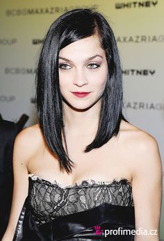 Long asymmetrical hair cut