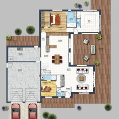 House Plan fixtures of the interior of a house - depreux construction Best House Plans, Small House Plans, House Floor Plans, The Plan, How To Plan, Villa Plan, Design Case, Modern House Design, Home Deco