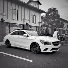 Blackout at Caffeine & Carburetors. That's the first customized #CLA we've seen. #instacar #Mercedes #Benz #inthewild