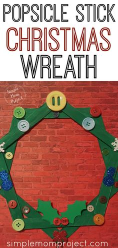 Easy DiY Popsicle Stick Christmas Wreath for Kids Easy DiY Popsicle Stick Christmas Wreath for Kids Jeri Wickiser jeriwickiser Christmas Click now to make these easy homemade Popsicle nbsp hellip crafts popsicle sticks Christmas Crafts For Kids To Make, Crafts For Teens To Make, Kids Christmas, Diy For Kids, Holiday Crafts, Christmas Wreaths, Christmas Ornaments, Spring Crafts, Christmas Activities For Children